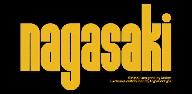 nagahome1 Nagasaki A typeface designed by HelloMuller
