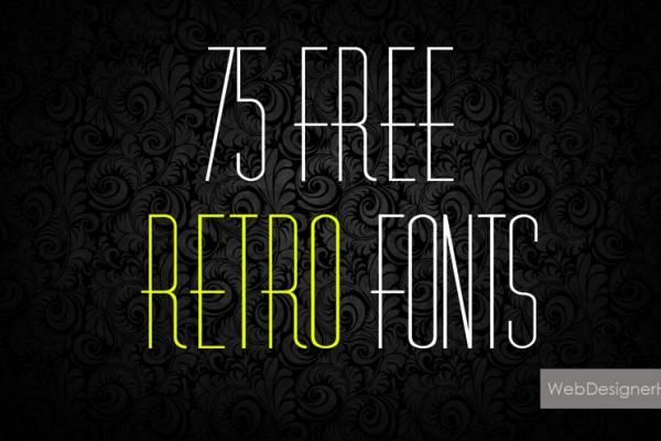 retro fonts1 600x400 75 Free Retro Fonts