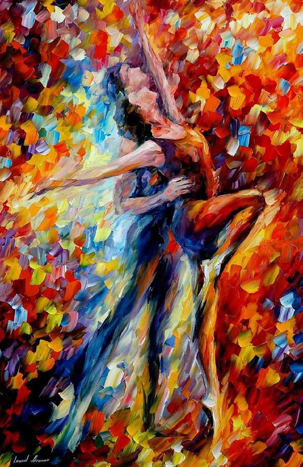 toward the sun light original oil on canv painting by leonidafremov Amazing Paintings by Leonid Afremov