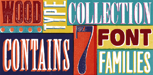 wtc1 Wood Type Font Collection