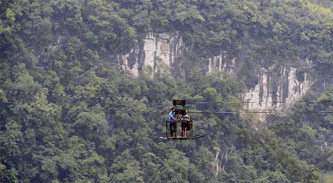 1136 Chinese Villagers Zip Line