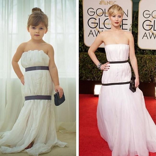 1170 Cute Little Girl Models Paper Versions Of Famous Fashion Design Dresses