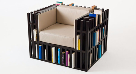 Bibliochaise 01 450x244 Bibliochaise Bookshelf Chair