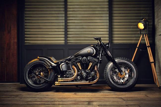 Bikez 1 650x433 Custom Harley Davidson Softail Slim