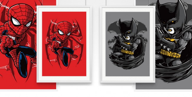 spidey 650x331 Really Nice Spidey & the Dark Knight Posters