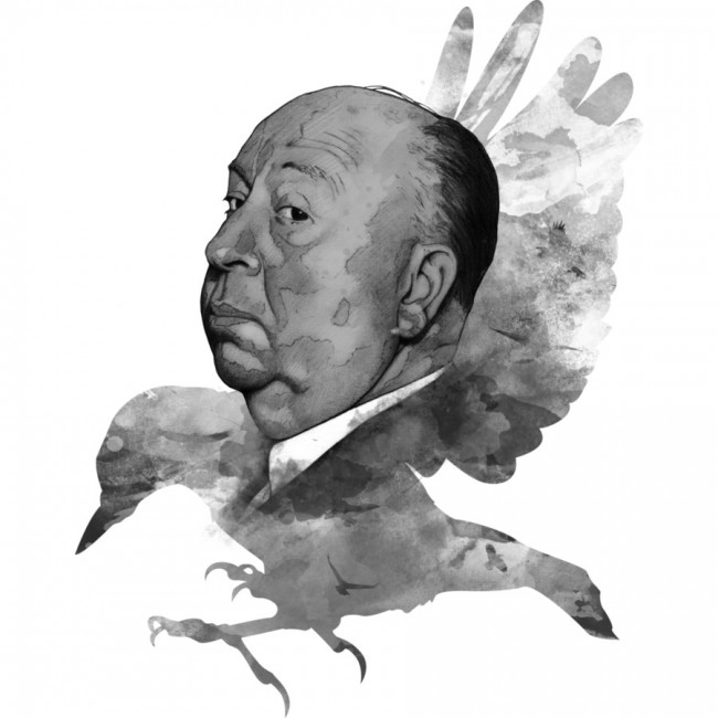 Hitchcock T-shirt design by ArnaudGomet design