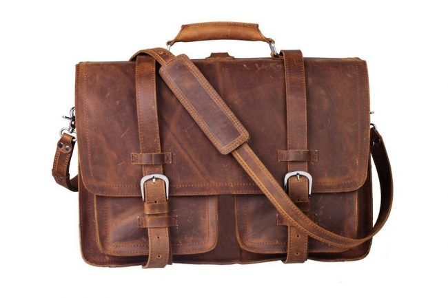 Retro Style Leather Briefcase for Laptop 11 650x433 Retro Style Leather Briefcase for Laptop