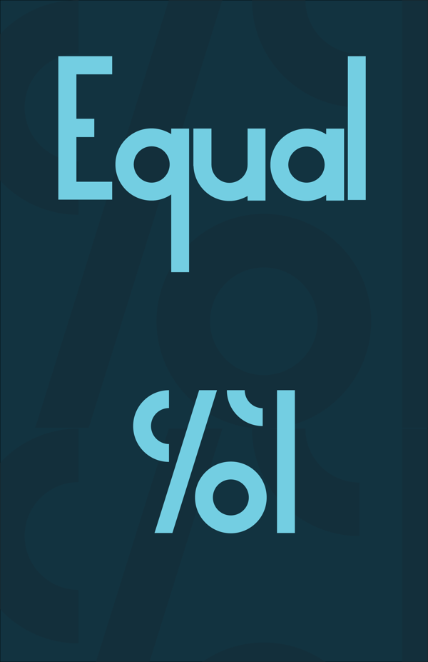 1 Equal Free Geometric Font
