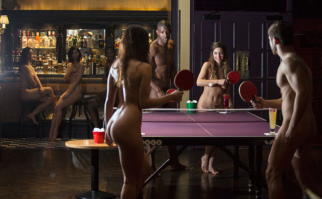 1106 Naked Ping Pong Session at Bounce in London