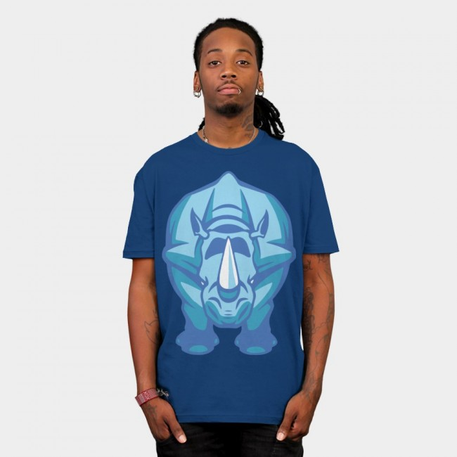 Blue Rhino T-shirt design by CreativeJacob man tee