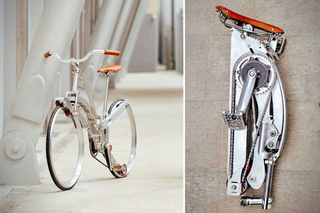 Fold 1 650x433 The Collapsible Bicycle by Sada