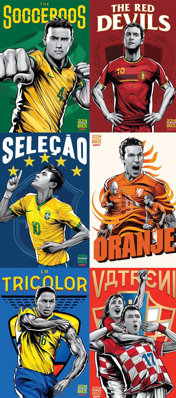 croatia espn brazil football world cup 2014 poster ESPN Brazil Football World Cup 2014 Poster Series by Cristiano Siqueira