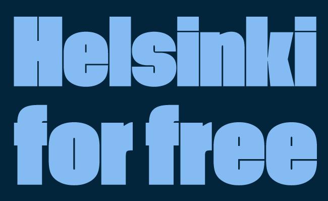 helsinkiforfree13 Helsinki fonts for free