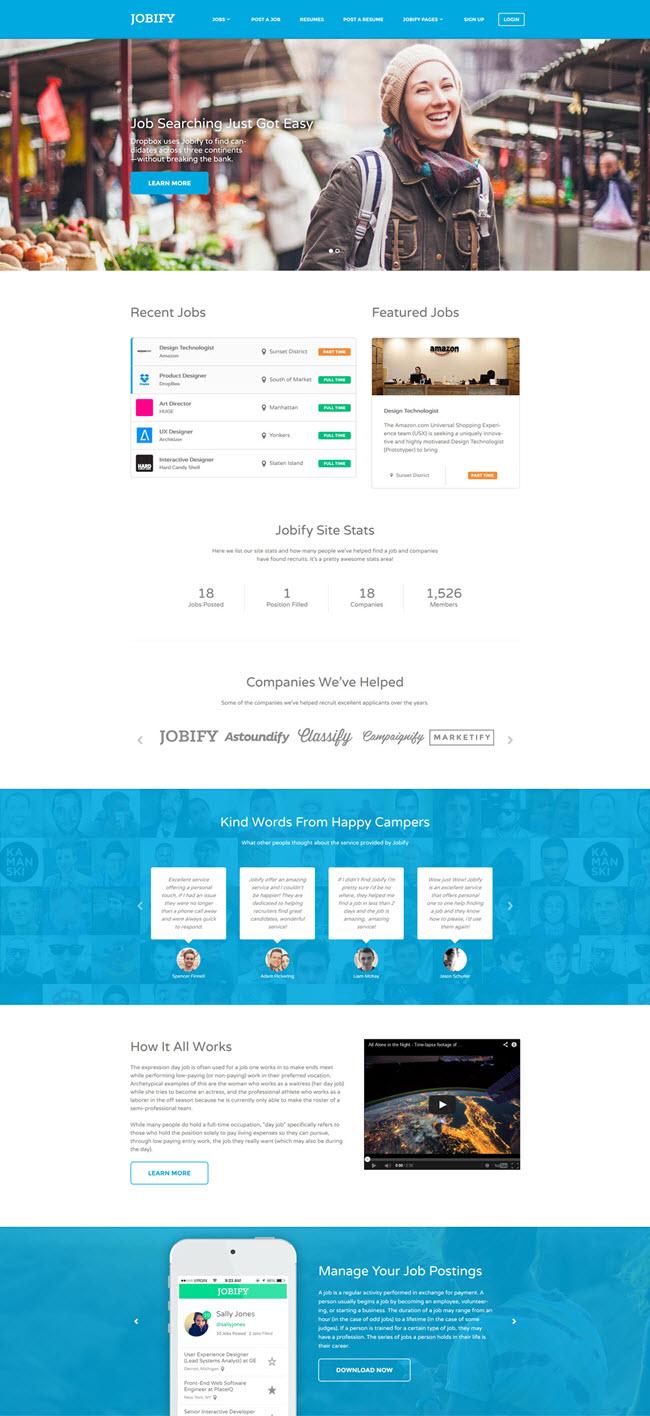 jobify screenshot1 Best WordPress Job Board Themes
