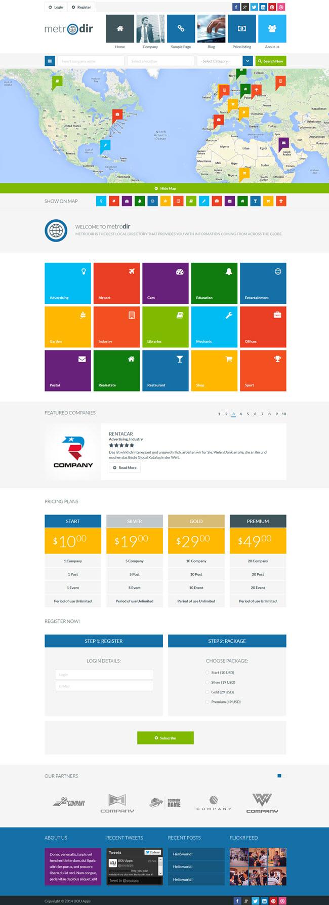 metrodir screenshot Best Directory & Listings WordPress Themes