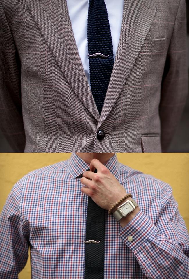 moustache tie clip large Moustache Tie Clip