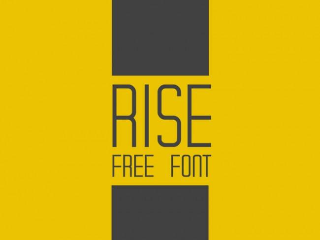 rise 01 650x487 Rise Free Font