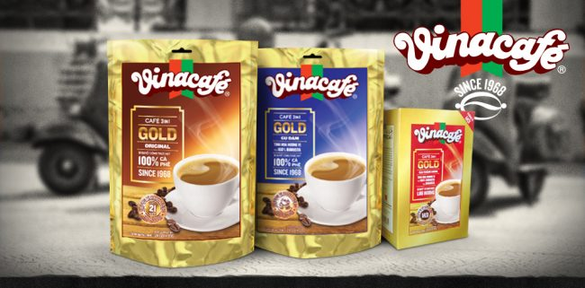 VinaCafe 3 in 1 Gold packaging re-design