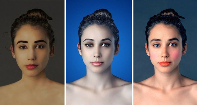 5106 650x347 Woman Had Her Face Photoshopped In Over 25 Countries To Compare Global Beauty Standards