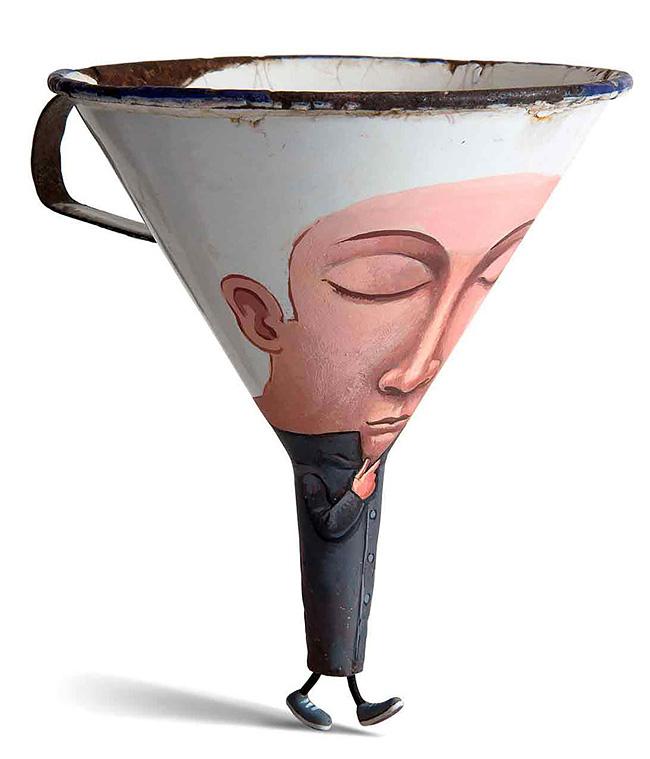 781 Artista francese trasforma oggetti di uso quotidiano in caratteri Playful