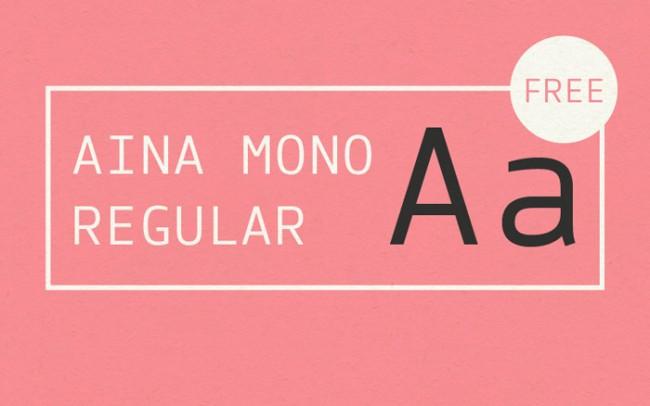 Aina Mono Free Font 11 650x406 Aina Mono Free Font