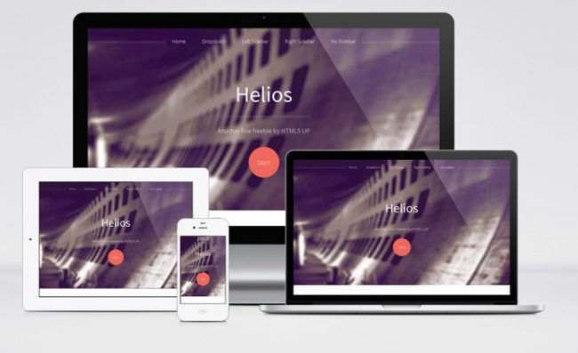 helios free one page html template 650x397 Helios : Free Responsive Business Html5 Template