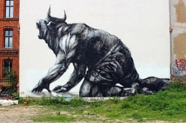jaz mural berlin 01 650x432 Streetart: New Mural by JAZ in Berlin