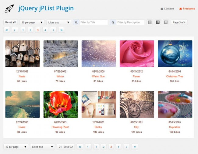 jplist 650x507 jPList – jQuery Plugin for Sorting, Pagination and Filtering