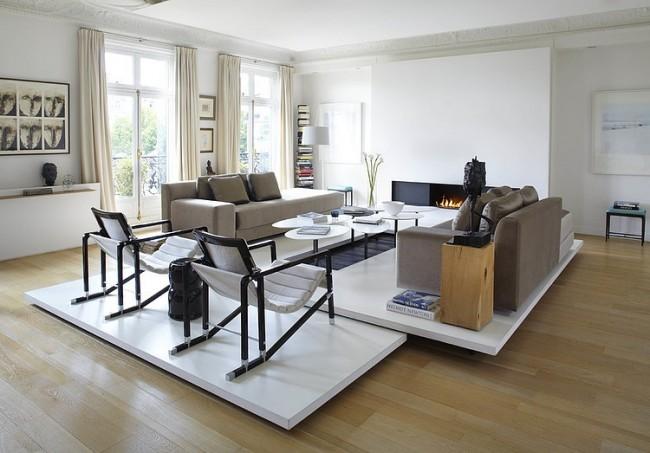 001 apartement france bismut bismut architectes 650x453 Apartment in France by Bismut & Bismut Architectes