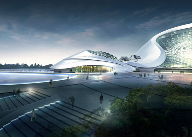 1389635477 1 640x457 Harbin Cultural Center by MAD Architects