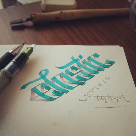 3D Lettering A New Calligraphy typgoraphy Trend 1 3D Lettering   A New Trend for Calligraphers & Typographers