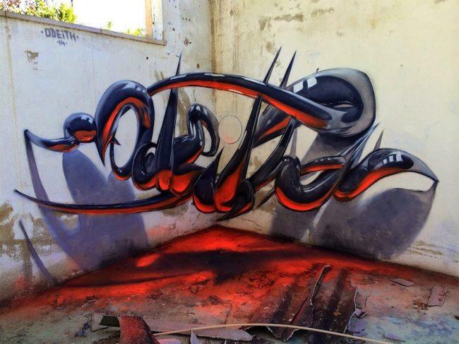 Anamorphic Graffiti Artworks by Odeith 2014 01 650x487 Anamorphic Graffiti Artworks by Odeith