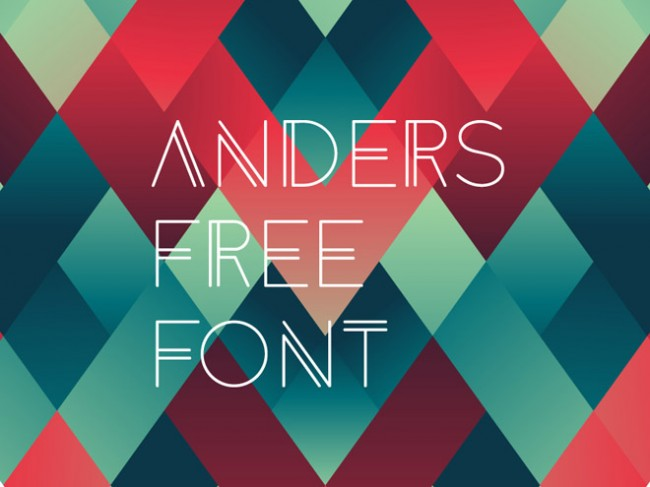 Anders 650x487 Anders Free Modern Geometric Font
