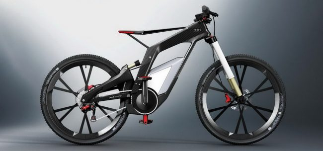 Audi E bike 650x304 8 Hottest Bikes Made by Car Manufacturers