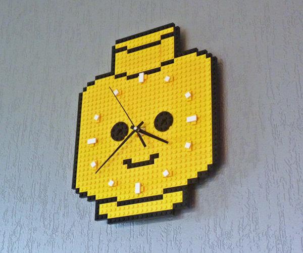 Clock Made Of Lego Bricks Minifig Head Daily Gadget Inspiration #140