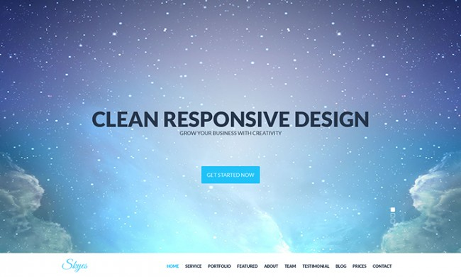 skyes 650x390 Skyes   Multiporpose Retina HTML5 Template