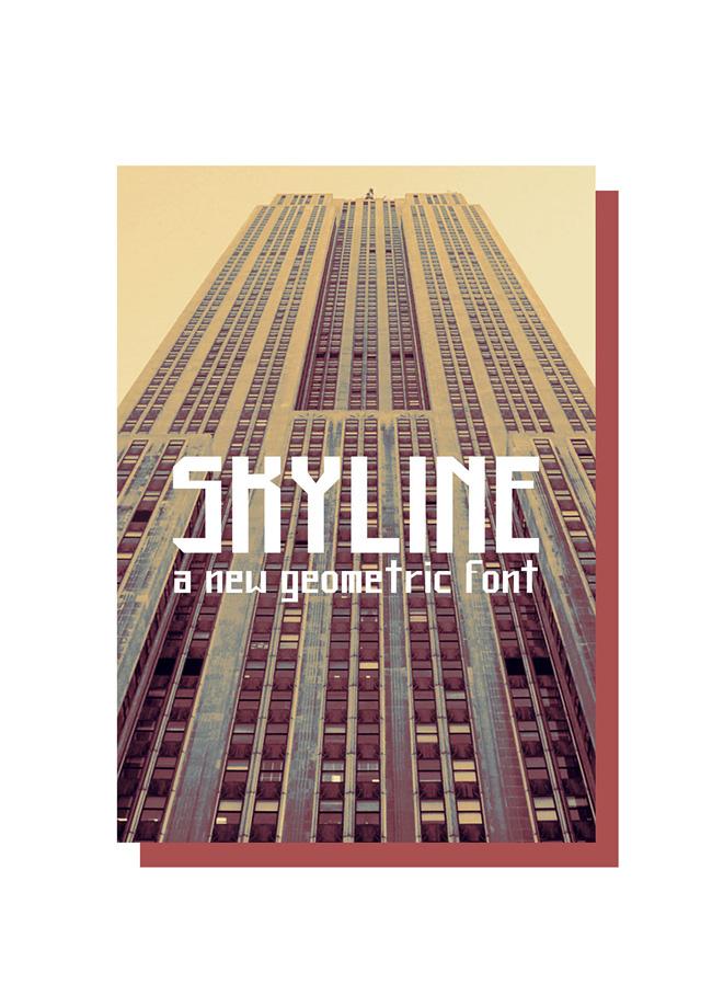 skyline 01 Skyline Free font
