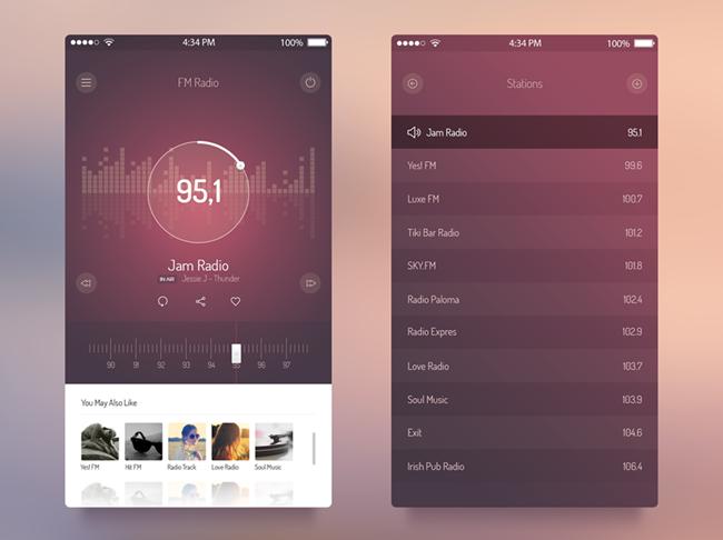 11 Free Fantastic Music Player UI Kits