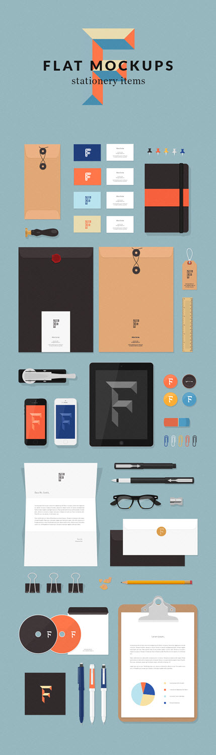 11110 Free Business Brand Identity Stationery Mockups