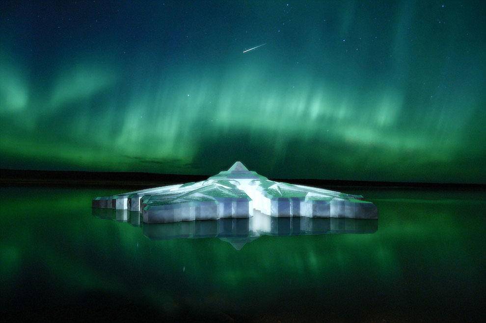 127 Floating Snowflake Hotel in Norway that Offers the Perfect View of the Northern Lights