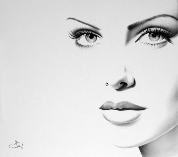 1390932935 1 Minimal Charcoal Portraits of Celebrities by Ileana Hunter