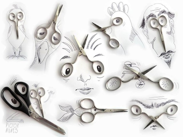1391190103 1 640x480 Everyday Objects Turned into Playful Illustrations by Victor Nunes