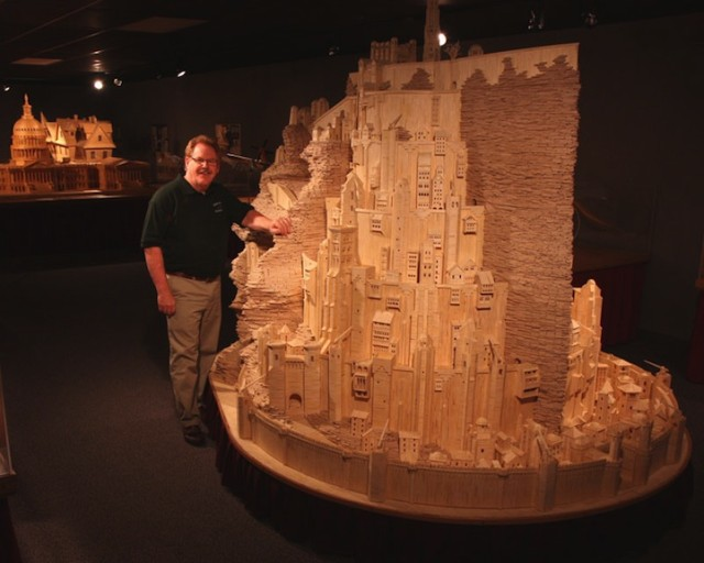 1393523638 1 640x512 City of Minas Tirith Made from Matchsticks
