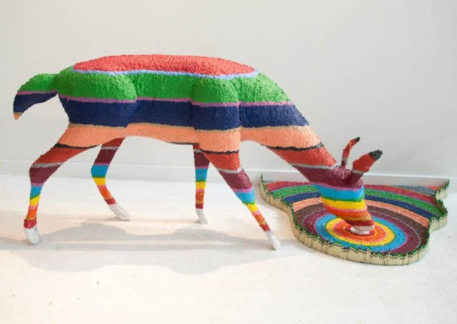 1393611236 1 640x454 Colorful Crayon Sculptures by Herb Williams