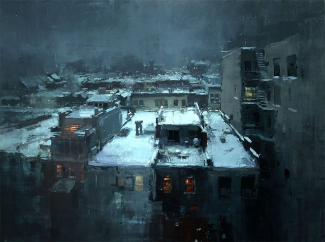 1397587556 1 640x476 Beautiful Cityscape Oil Paintings by Jeremy Mann