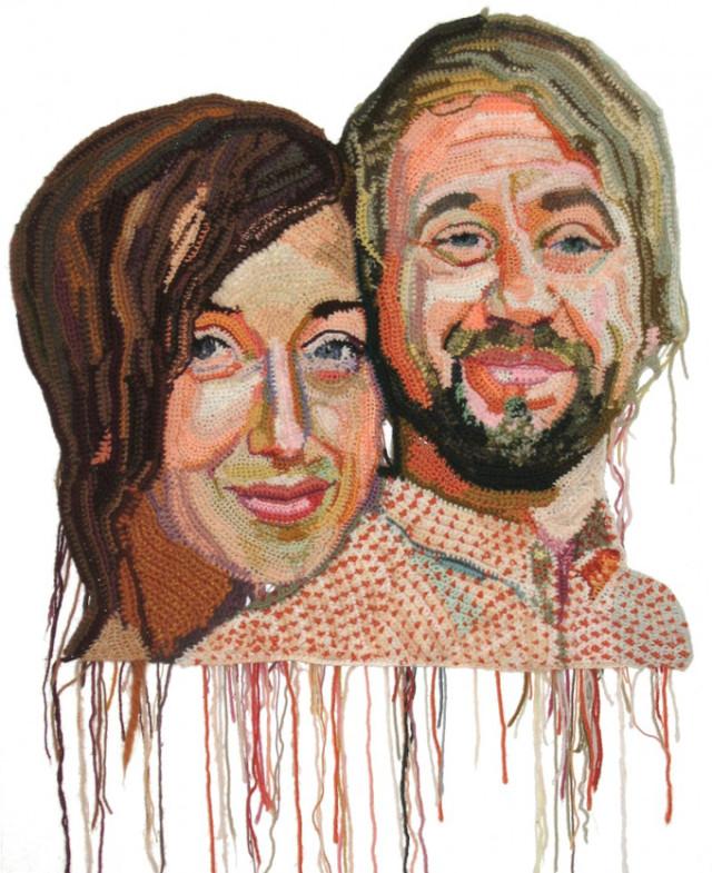 1397669824 1 640x785 Crocheted Portraits by Jo Hamilton