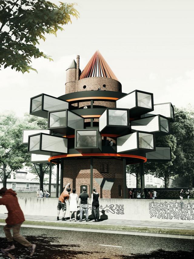 1399462247 1 640x853 Water Tower Revitalization by Adam Wiercinski
