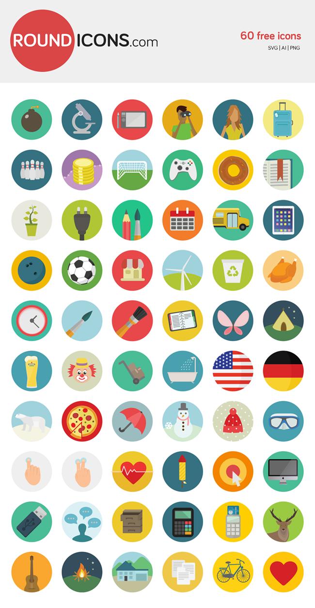31 25 Free Amazing Icon Sets