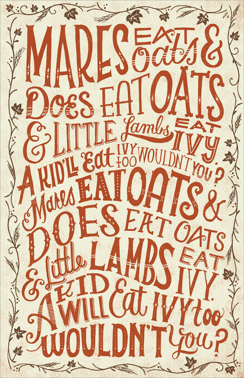 Beautiful Hand Lettering Illustrations Work 45 80+ Beautiful Hand Lettering & Illustrations by Mary Kate Mcdevitt