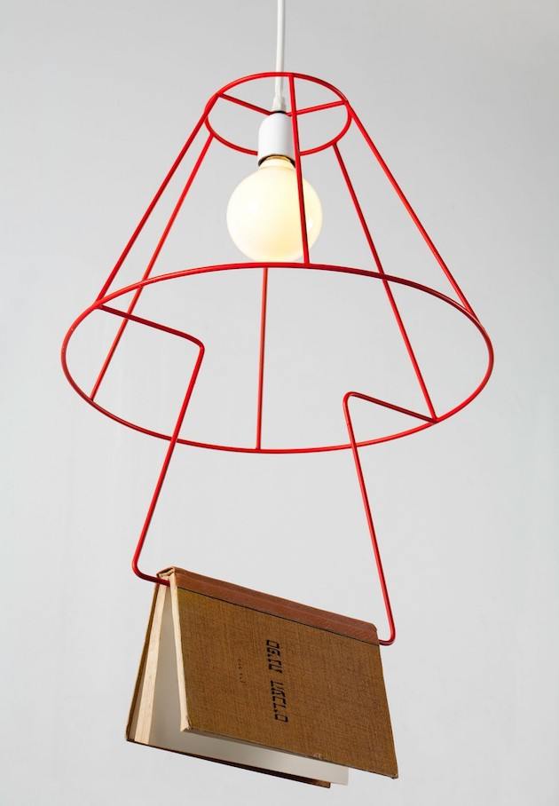 Booklovers Pendant Lamp Groupa Studio Feeldesain7 Booklovers pendant lamp by Groupa Studio